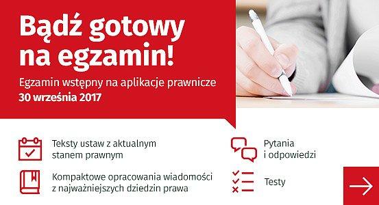 Egzamin wstępny na aplikacje prawnicze